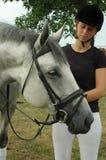 Vrouw en Paard Stock Afbeelding