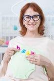 Vrouw en recent moederschap stock afbeelding