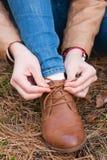 Vrouw en Schoenen Stock Afbeeldingen