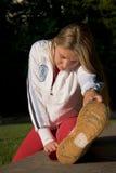 Vrouw en sport Stock Afbeelding
