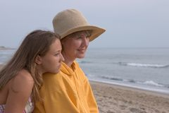 vrouw en tiener royalty-vrije stock foto