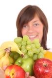 Vrouw en vruchten Royalty-vrije Stock Fotografie