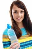 Vrouw en water Royalty-vrije Stock Afbeelding