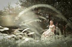 Vrouw in feebos Royalty-vrije Stock Fotografie