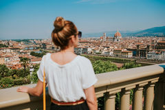 Vrouw in Florence stock fotografie