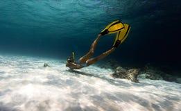 Vrouw Freediver royalty-vrije stock fotografie