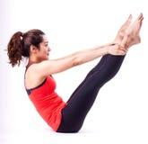 De actie van Pilates Stock Foto's