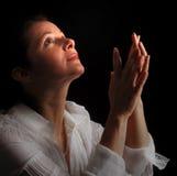 Vrouw in gebed Stock Foto