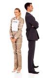 Vrouw gebonden huwelijk Stock Afbeelding