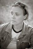 Vrouw in gedachte Royalty-vrije Stock Fotografie