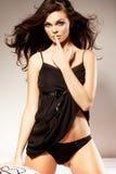 Vrouw Gesturing voor Stil of het Doen zwijgen Royalty-vrije Stock Foto