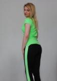 Vrouw in groen Royalty-vrije Stock Afbeeldingen