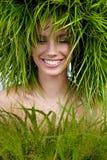 Vrouw, groen concept Stock Fotografie