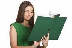 Vrouw in groene kleding royalty-vrije stock fotografie