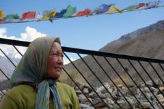 Vrouw in Gui Stock Foto's