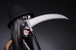 Vrouw in Halloween-concept Royalty-vrije Stock Afbeeldingen