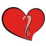 Vrouw in hart stock illustratie