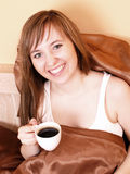 Vrouw in het bed Royalty-vrije Stock Fotografie