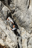 Vrouw het Beklimmen Royalty-vrije Stock Foto's