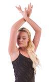 Vrouw het dansen Stock Foto