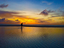 Vrouw in het dubbele overzees van Aruba Royalty-vrije Stock Foto's