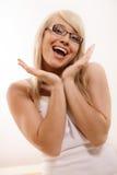 Vrouw het gesturing royalty-vrije stock foto's