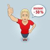 Vrouw het gesturing royalty-vrije illustratie