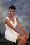 Vrouw het glimlachen Stock Afbeelding