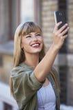 Vrouw het glimlachen Royalty-vrije Stock Foto's