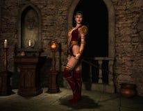 Vrouw in het heiligdom Stock Fotografie