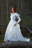 Vrouw het mystieke bos Royalty-vrije Stock Afbeeldingen