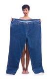 Vrouw in het op dieet zijn concept Royalty-vrije Stock Foto