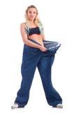 Vrouw in het op dieet zijn concept Royalty-vrije Stock Fotografie