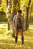 Vrouw in het park Royalty-vrije Stock Foto's