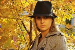 Vrouw in het park Stock Fotografie