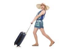 Vrouw het reizen Stock Foto