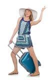 Vrouw het reizen Stock Fotografie