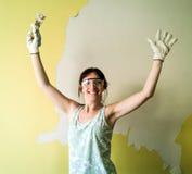 Vrouw het schilderen Royalty-vrije Stock Afbeeldingen