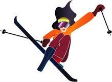 vrouw het skiån stock foto