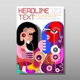 Vrouw het Spelen Saxofoon - tijdschriftmalplaatje Royalty-vrije Stock Foto
