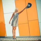 Vrouw het springen Royalty-vrije Stock Foto