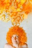 Vrouw het Vragen Stock Afbeeldingen