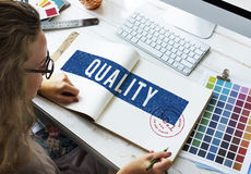 Vrouw het Werk het Concept van de Kleurenkwaliteit Royalty-vrije Stock Fotografie