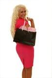 Vrouw het winkelen Stock Afbeeldingen