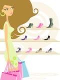 Vrouw in het winkelen Royalty-vrije Stock Foto's