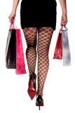 vrouw in het winkelen stock foto