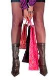 Vrouw in het Winkelen royalty-vrije stock afbeelding