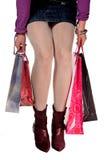 Vrouw in het winkelen royalty-vrije stock foto