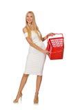 Vrouw in het winkelen concept Royalty-vrije Stock Foto's