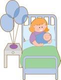 Vrouw in het ziekenhuis stock illustratie
